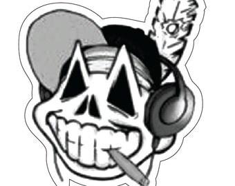 Cleveland Indians Hippie Wahoo Decal Vinyl Bumper Sticker