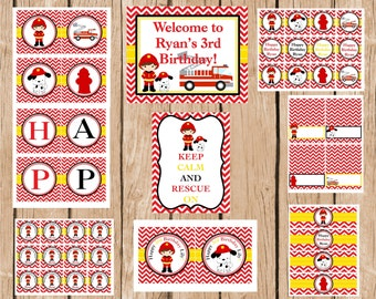Firefighter Party Package, DIY