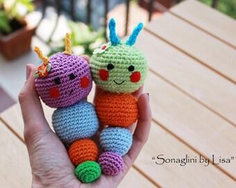 Baby rattles crochet - Amigurumi