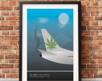 "Original Print Inspired by Dr. Dre's ""The Chronic"""