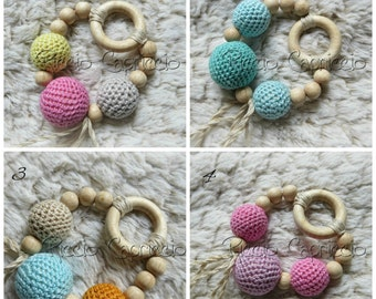 Toy Wooden Teething and Breastfeeding-natural cotton