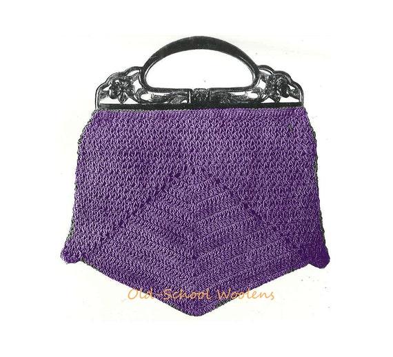 Vintage Purse Crochet Pattern 1930s Handbag Bag PDF Instant Download ...