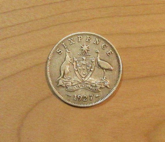 Wedding Sixpence, Australian silver 6 pence coin, lucky six pence ...