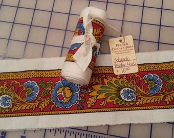 4 yard lengths of Souleiado fabric border, quilt border, made in France