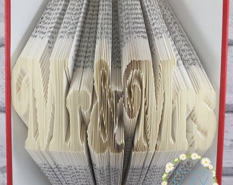 Mr & Mrs Book Folding Pattern - (357 Folds) Instant Download With Free Tutorial