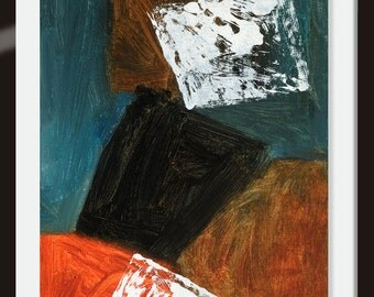 """Original canvas panel painting  Abstract painting Acrylic painting """"Composition"""" 16H x 12W from Art Factory Gallery"""