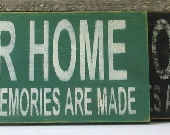 Our Home Wooden Sign