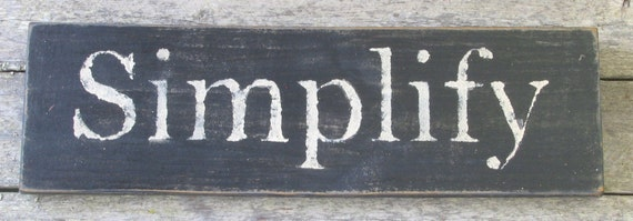 Simplify Wooden Sign