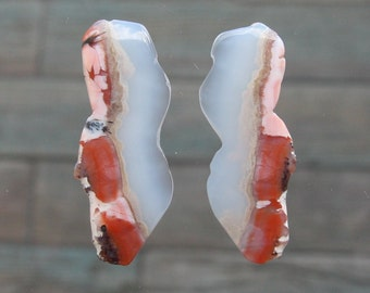 Set of 2 Moroccan agates - Oasis