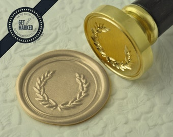 Olive Branch Wreath - Wax Seal Stamp by Get Marked (WS0080)