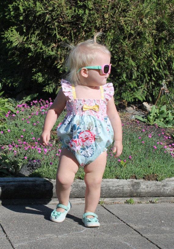 Scarlett's Sun Suit. PDF sewing pattern for Baby sizes Newborn - 3t.