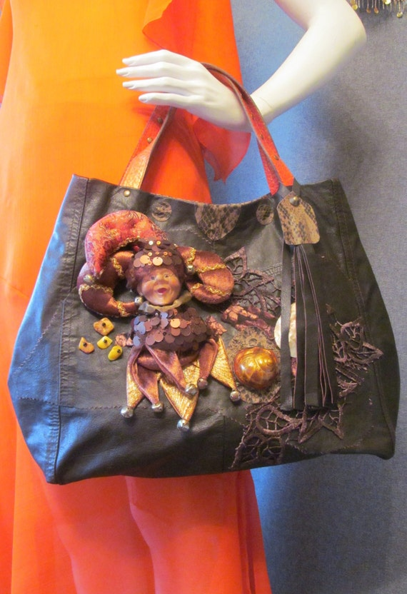 Leather bag. bags and purses. purses. boho bag, colours; brown,amber, orange. Ready to ship..