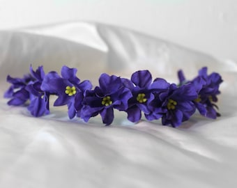 Small Purple Flower Hairband