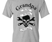 Grandpa The Man The Myth The Legend Skull Tools Father's Day Men's Ultra Cotton T-Shirt