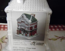 California creations 97415 dickens village hotel plaster house ready