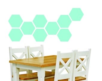 8'' Hexagon Removable Vinyl Wall Decal, Honeycomb Vinyl Sticker, Nursery Decal, Vinyl Wall Sticker, geometric stickers, gold Wall Sticker
