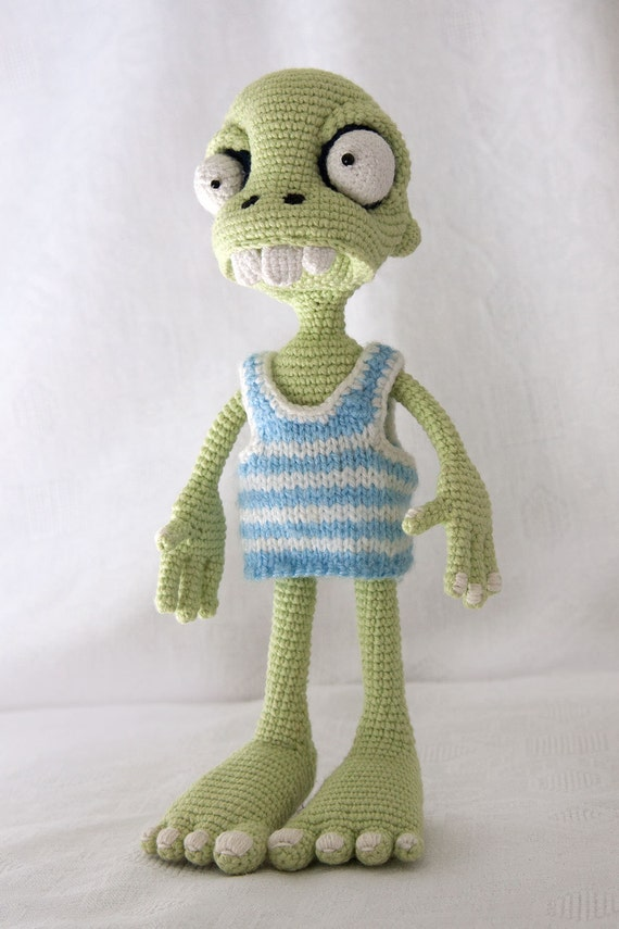 Crochet Zombie Patterns : PATTERN - Zombie boy - crochet pattern, amigurumi pattern ...