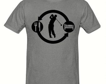 Eat Sleep GOLF Repeat t shirt,men's t shirt sizes small- 2xl, GOLFING men's t shirt