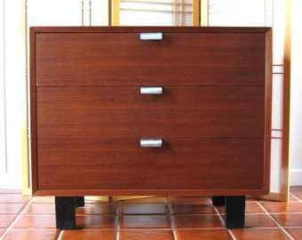 Vintage GEORGE NELSON Herman Miller 3-Drawer Chest - 1950's (BCS) Basic Cabinet Series