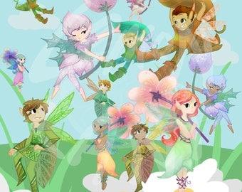 50% OFF Fairy Clip Art, scrapbook clip art, cute clip art, clip art, fairy art, fairy clip art,