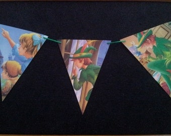 PETER PAN Fairy Tale Paper Bunting - Nursery, Party, Baby Shower, Children's Room decoration