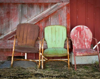 Three Old Chairs
