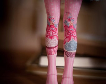 pink cake bjd stockings  MSD / SD / Blythe / tiny