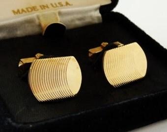 Vintage 1950s ANSON Cufflinks 1/20 12K GF Gold Filled Cuff Links