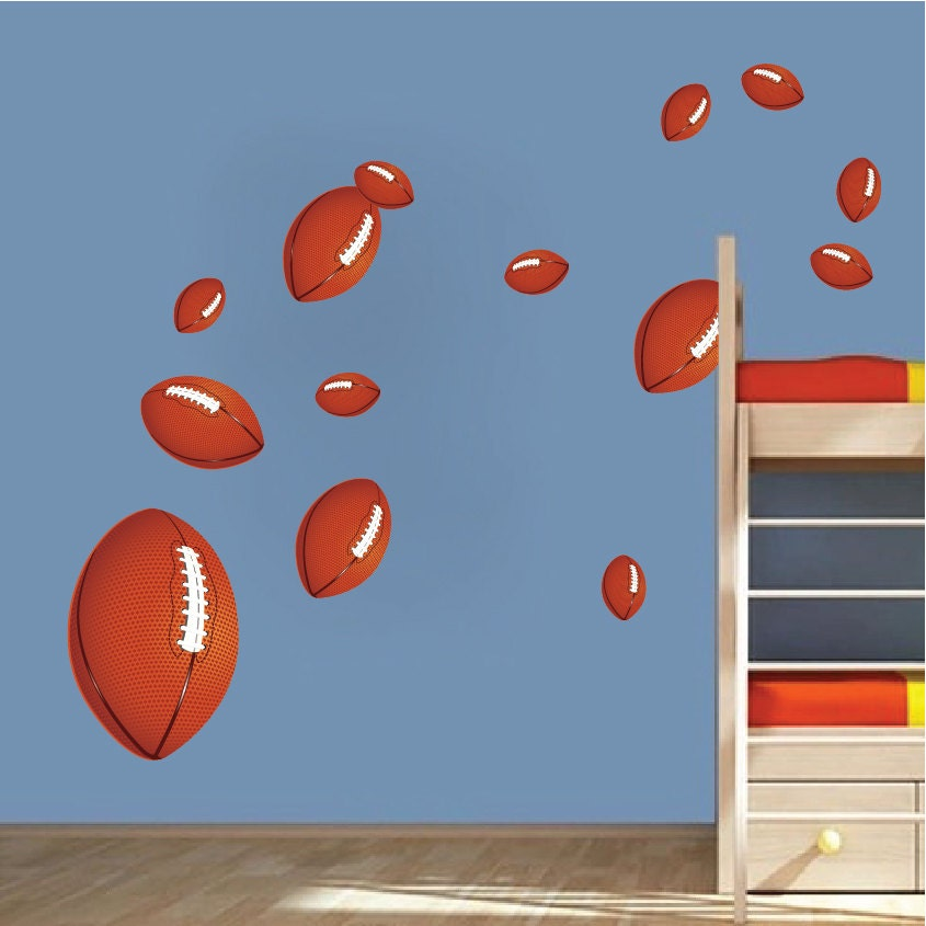 football wall decals football wall art stickers kids 39. Black Bedroom Furniture Sets. Home Design Ideas