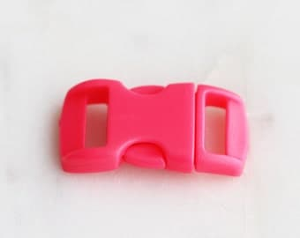 S4-106-HP] Hot Pink / 29 x 14mm  / Buckle Clasp / 2 piece(s)