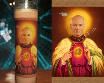 Jean Luc Picard Prayer Candle / The Next Generation / Star Trek Candle