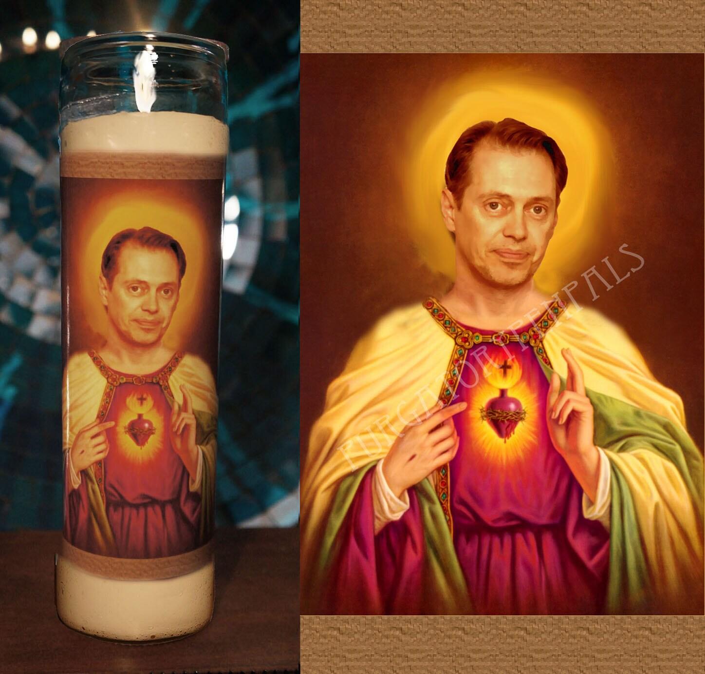 Saint Steve Buscemi Prayer Candle Vigil Candle