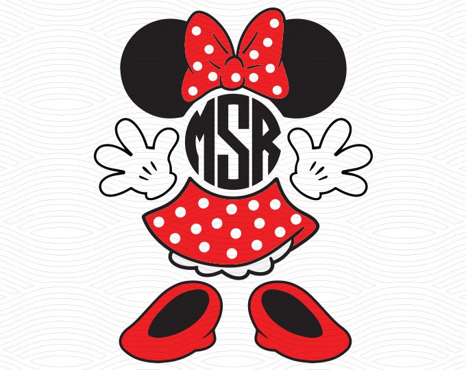 minnie mouse monogram set svg eps dxf studio3 mouse ears Mickey Mouse Ears Template Minnie Mouse Ears Clip Art