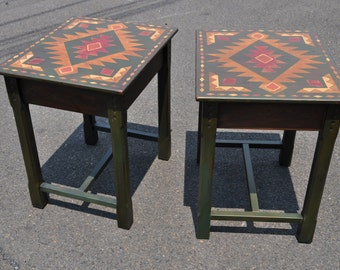 Pair Of Habersham Painted End Tables