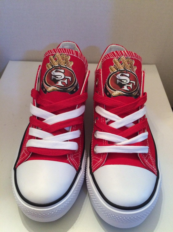 san francisco 49ers faithful tennis shoes by sportzshoeking