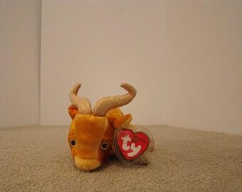 "Ty Beanie Babies ZODIAC OX Plush Stuffed Animal 7"" long 2000"