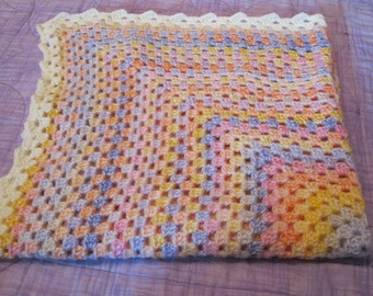 Handmade crochet lap blanket (Sweet Tropical Dreams)