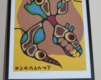 Norval Morrisseau ltd edition print titled Inorganics ltd ed no. 4/45 P.P.
