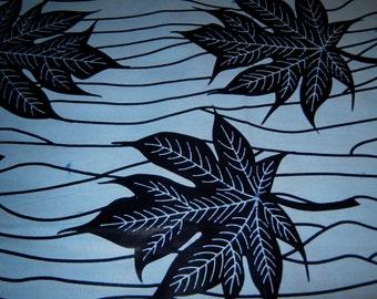 1/2 Yard Cut - indigo Blue - African Wax Print
