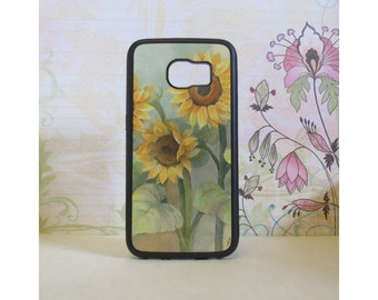 Sunflowers #2 - Rubber Samsung Galaxy S3 S4 S5 S6 Case