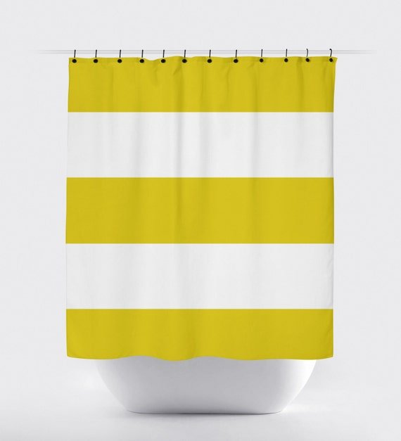 mustard yellow stripe shower curtain fabric shower curtain