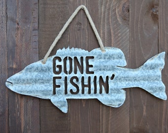 Gone Fishin' Sign