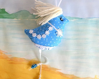 Joanne, fabric hanging bird, hen party gift