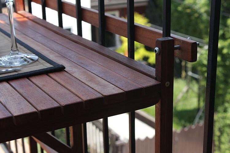 Table pliante de balcon bois ext rieur par singulierlampandcab - Table balcon pliante ...