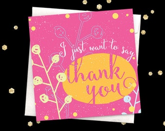 Thank you greeting card Blank card
