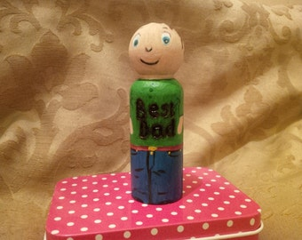 Fathersday personalised peg doll