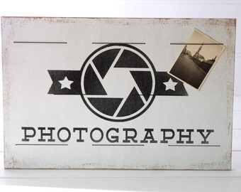 Wooden plaque - Photography