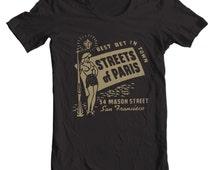 Streets of Paris San Francisco California Vintage Matchbook T-shirt