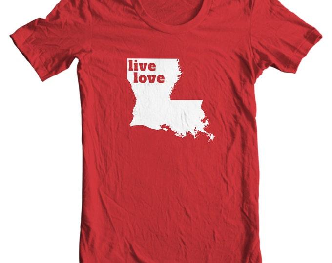 Louisiana T-shirt - Live Love Louisiana - My State Louisiana T-shirt