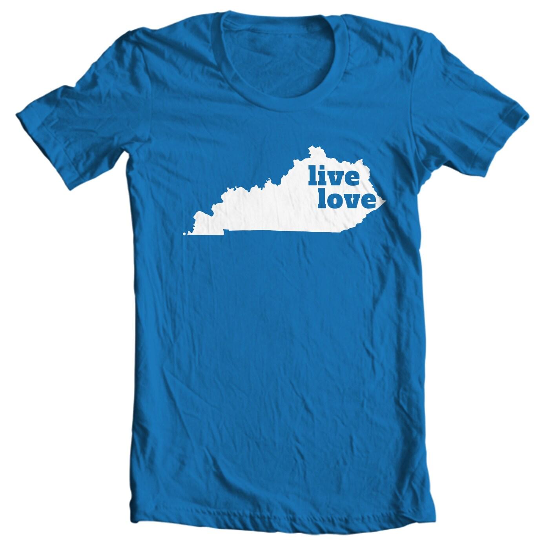 Kentucky T-shirt - Live Love Kentucky - My State Kentucky T-shirt